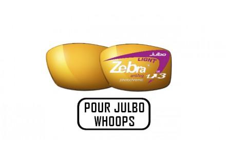 Lunettes de soleil mixte JULBO Noir Verres ZEBRA LIGHT pour Julbo WHOOPS