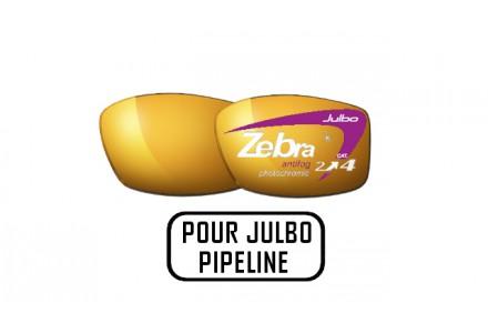 Lunettes de soleil mixte JULBO Noir Verres ZEBRA pour Julbo PIPELINE