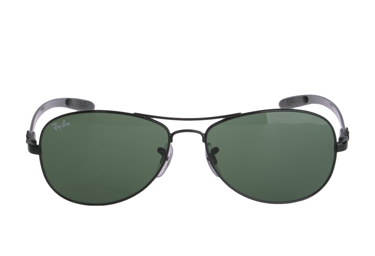 ray ban 8301  Ray-Ban RB8301 002 Black Frame Green Classic 56mm Lens Sunglasses ...