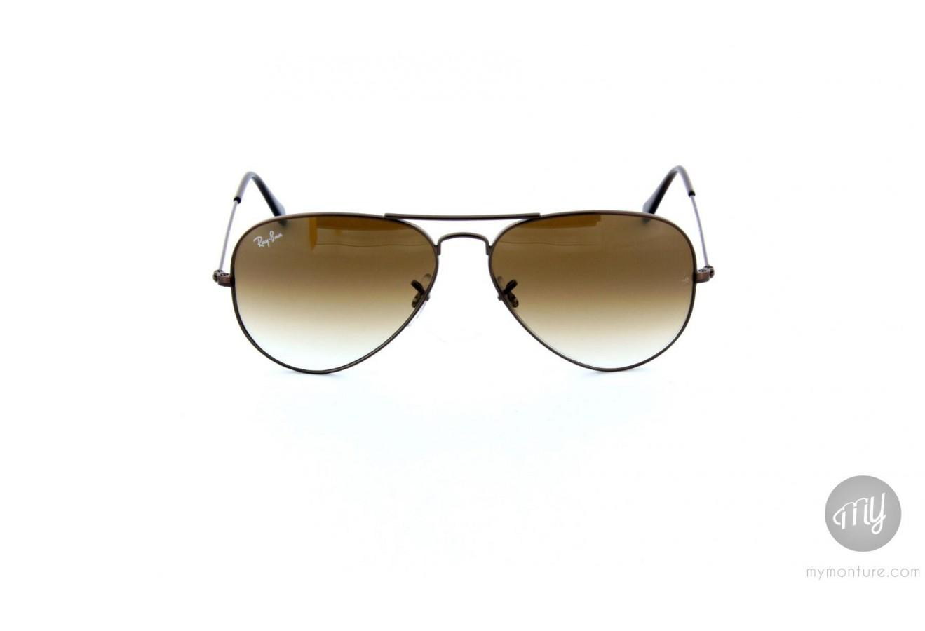 05b61adbce lunette ray ban aviator marron