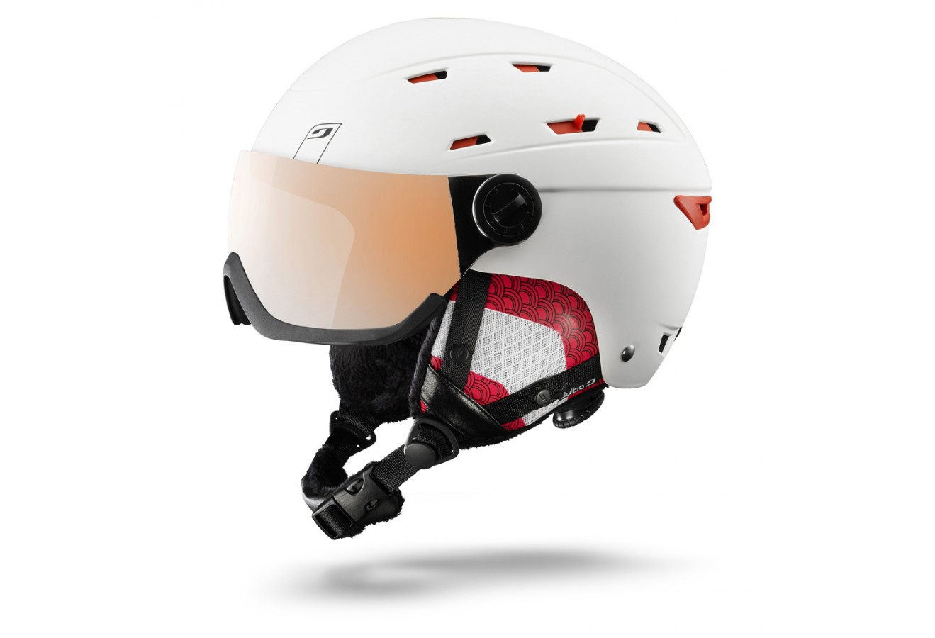 casque de ski julbo rebby visor blanc corail cat 3 flash si. Black Bedroom Furniture Sets. Home Design Ideas
