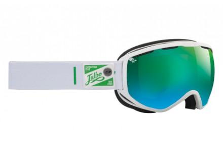Masque de ski mixte JULBO Blanc Atlas Blanc / Vert Polarized 3+