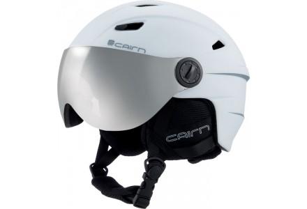 Casque de ski mixte CAIRN Blanc ELECTRON VISOR Blanc Mat 55/56