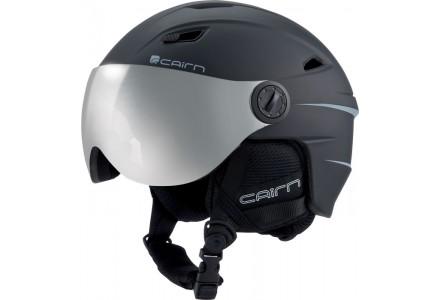 Casque de ski mixte CAIRN Noir Mat ELECTRON VISOR Noir Mat 55/56