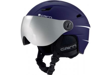 Casque de ski mixte CAIRN Bleu ELECTRON VISOR Marine Mat 55/56