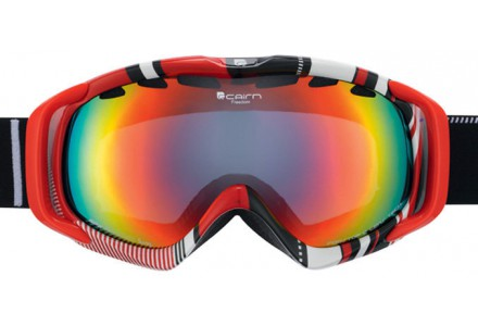 Masque de ski mixte CAIRN Rouge FREEDOM Hatching Rouge SPX 3000