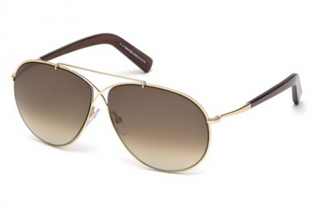 Lunettes de soleil mixte TOM FORD Or TF 0374 28F 61/10