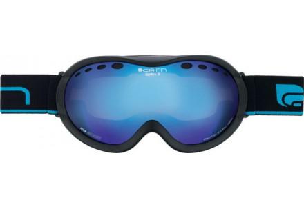 Masque de ski mixte CAIRN Noir Mat OPTICS D OTG Noir Mat/Miroir Bleu SPX 3000