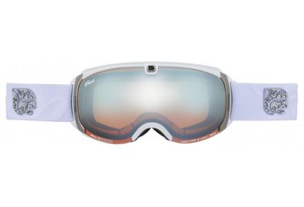 Masque de ski mixte CAIRN Blanc PEARL Blanc Mat Argent SPX 3000