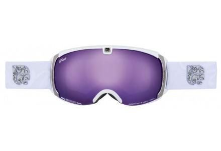 Masque de ski mixte CAIRN Blanc PEARL Blanc Mat Violet SPX 3000 IUM