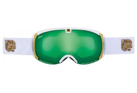 Masque de ski mixte CAIRN Blanc PEARL Blanc Mat Vert SPX 3000 IUM