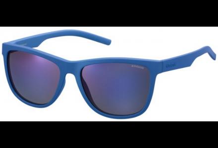 Lunettes de soleil mixte POLAROID Bleu PLD 6014/S ZDI JY 56/17