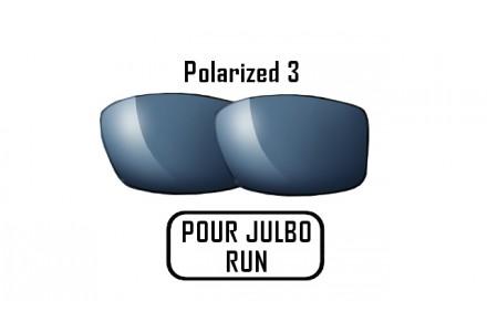 Lunettes de soleil mixte JULBO Verres Polarized 3 gris pour Julbo RUN