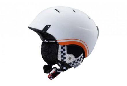 Casque de ski mixte JULBO Blanc POWER Blanc / Orange - 60/62
