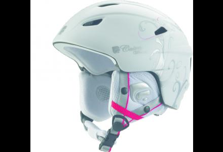 Casque de ski pour femme CAIRN Blanc PROFIL Blanc Mat vegetal Argent 59/60