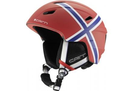 Casque de ski mixte CAIRN Rouge PROFIL Mat Norvège 61/62