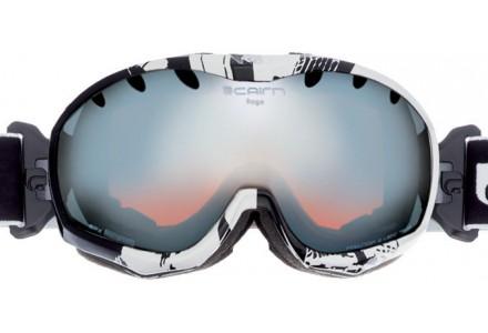 Masque de ski mixte CAIRN Noir RAGE Noir/Blanc Assymetrique SPX 3000