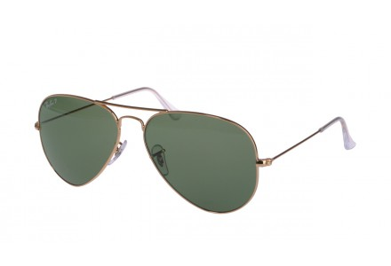 Lunettes de soleil mixte RAY BAN Or RB 3025 AVIATOR 001/58-55/14