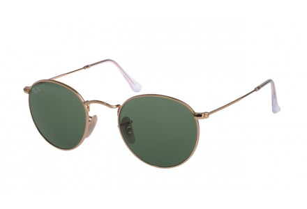 Lunettes de soleil mixte RAY BAN Or RB 3447 ROUND METAL 001 50/21