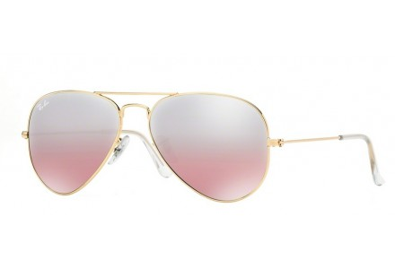 Lunettes de soleil mixte RAY BAN Or RB 3025 AVIATOR 001/3E 55/14