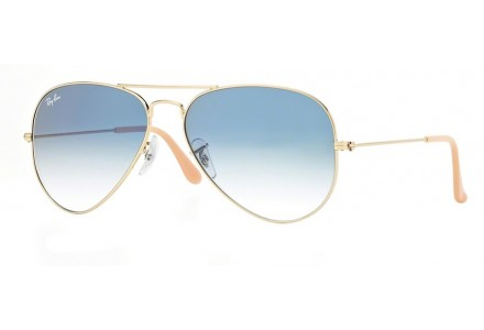 Lunettes de soleil mixte RAY BAN Or RB 3025 AVIATOR 001/3F 55/14