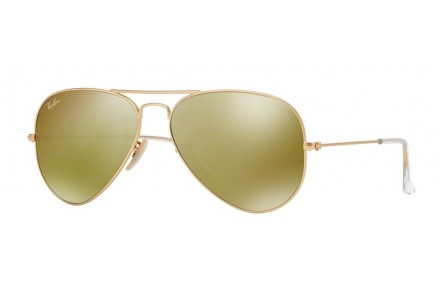 Lunettes de soleil mixte RAY BAN Or RB 3025 AVIATOR 112/93 58/14