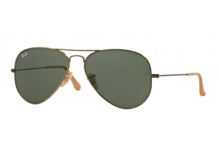Lunettes de soleil mixte RAY BAN Or RB 3025 AVIATOR 177 58/14