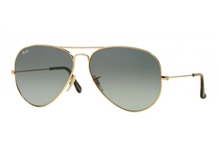Lunettes de soleil mixte RAY BAN Or RB 3025 AVIATOR 181/71 62/14