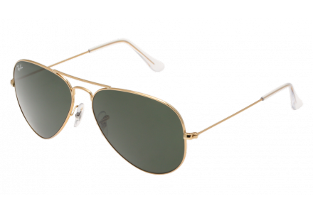 Lunettes de soleil mixte RAY BAN Or RB 3025 AVIATOR W3234-55/14