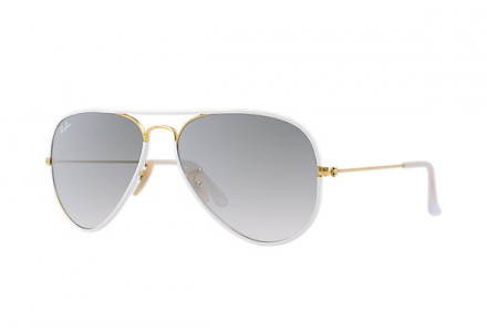 Lunettes de soleil mixte RAY BAN Blanc RB 3025 JM AVIATOR FULL COLOR 146/32 55/14
