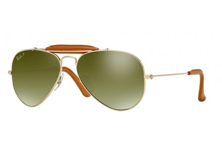 Lunettes de soleil mixte RAY BAN Or RB 3422-Q AVIATOR CRAFT 001/M9 58/14