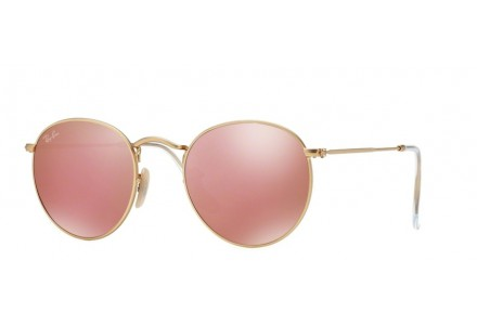 Lunettes de soleil mixte RAY BAN Or RB 3447 ROUND METAL 112/Z2 50/21