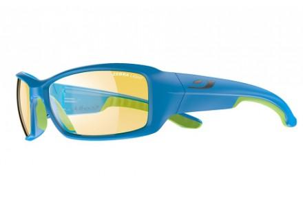 Lunettes de soleil mixte JULBO Bleu Run Bleu / Vert - Zebra 66/17