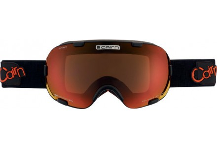 Masque de ski mixte CAIRN Noir Mat SPIRIT Noir Mat/Orange SPX 3000