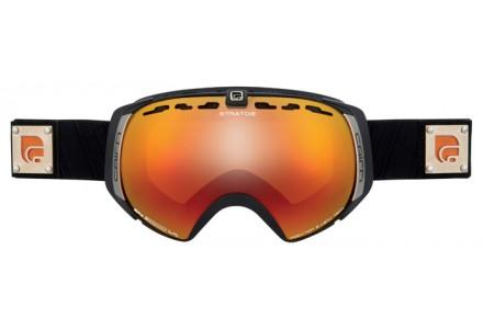 Masque de ski mixte CAIRN Noir Mat STARTOS Noir Mat Orange SPX 3000 IUM