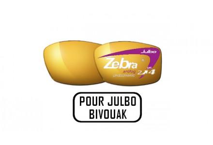 Lunettes de soleil mixte JULBO Noir Verres ZEBRA pour Julbo BIVOUAK