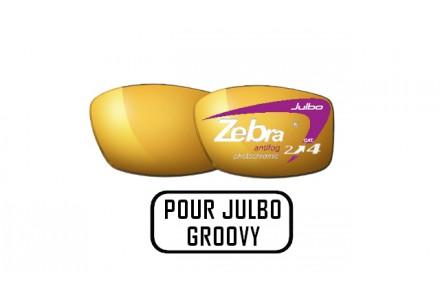 Lunettes de soleil mixte JULBO Noir Verres ZEBRA pour Julbo GROOVY