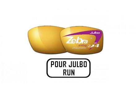 Lunettes de soleil mixte JULBO Noir Verres ZEBRA pour Julbo RUN