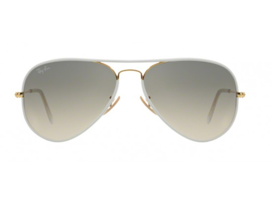 Lunettes de soleil mixte RAY BAN Blanc RB 3025 JM AVIATOR FULL COLOR 146/32 58/14