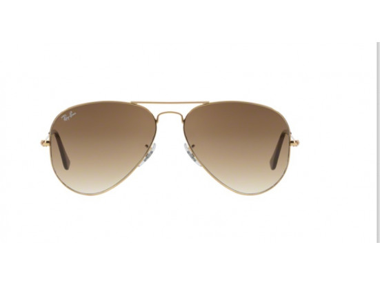 Lunettes de soleil mixte RAY BAN Or RB 3025 AVIATOR 001/51 58/14