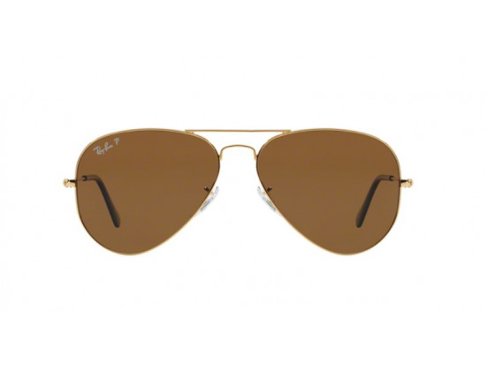 Lunettes de soleil mixte RAY BAN Or RB 3025 AVIATOR 001/57 58/14
