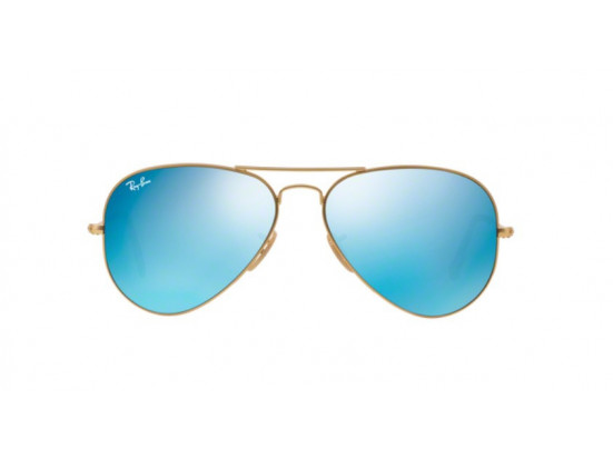 Lunettes de soleil mixte RAY BAN Or RB 3025 AVIATOR 112/17 55/14