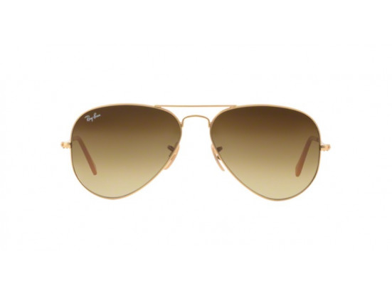 Lunettes de soleil mixte RAY BAN Or RB 3025 AVIATOR 112/85 55/14