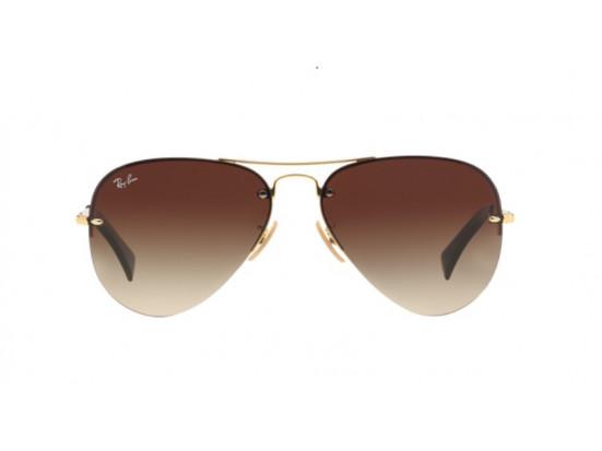 Lunettes de soleil pour homme RAY BAN Or RB 3449 001/13-59/14
