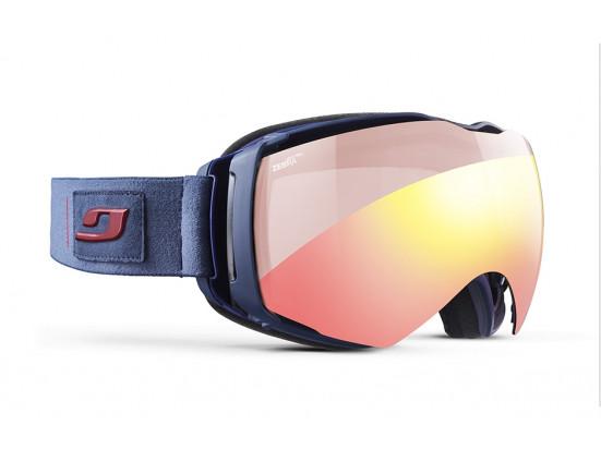 Masque de ski mixte JULBO Bleu AEROSPACE OTG Bleu Sombre / Orange XL+ Zebra Light RED