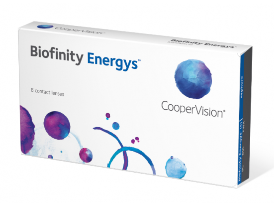 Lentilles COOPERVISION Biofinity ENERGYS