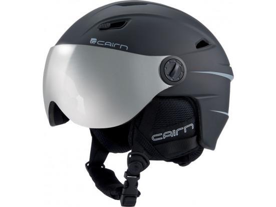 Casque de ski mixte CAIRN Noir Mat ELECTRON VISOR PCHROM Noir Mat 57/58