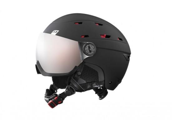 Casque de ski mixte JULBO Noir NORBY VISOR Noir / Rouge - Ecran interchangeable 1+3 - 60/62