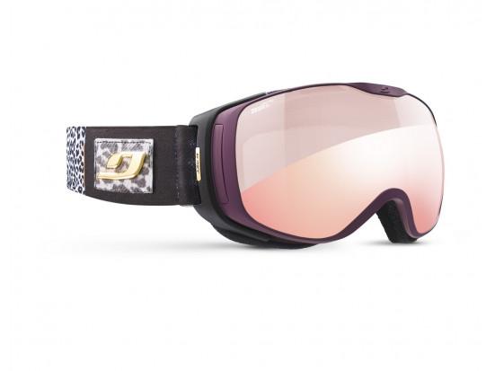 Masque de ski pour femme JULBO Violet LUNA Violet Panthère - Zebra Light Red
