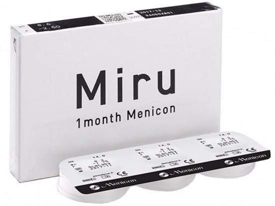 Lentilles MENICON Miru 1 Month 6L